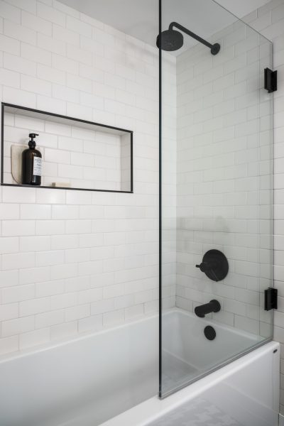 matte black hardware, bathroom remodel
