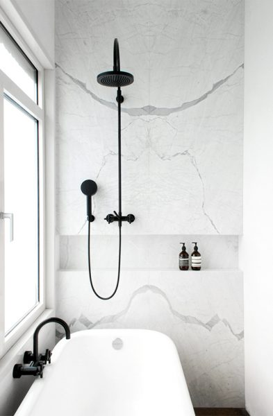 freestanding tub, freestanding tub shower, cast iron tub, acrylic tub, wall mounted faucets, matte black faucet, matte black shower