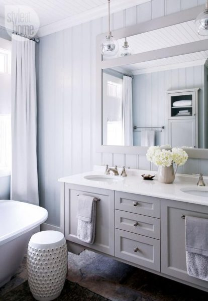 Vertical shiplap bathroom inspiration