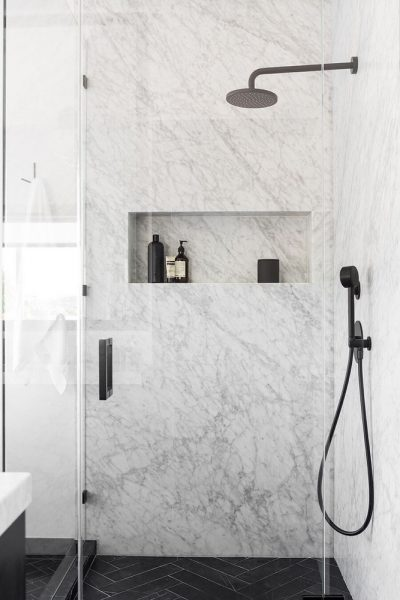 Shower Niche marble design