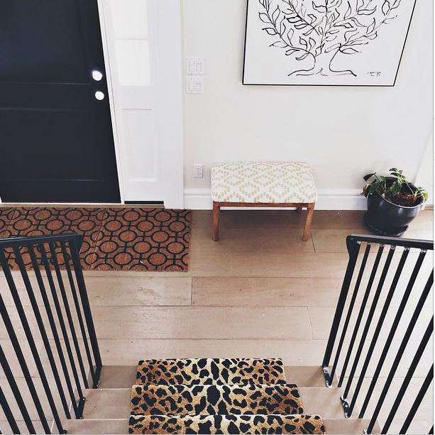 cheetah print stair runner