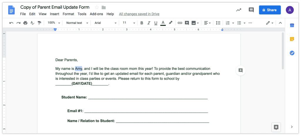Browse parent email list editable resources on teachers pay. How To Update Parent Emails Editable Form Room Mom Rescue