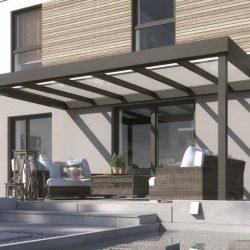 glass and polycarbonate verandas