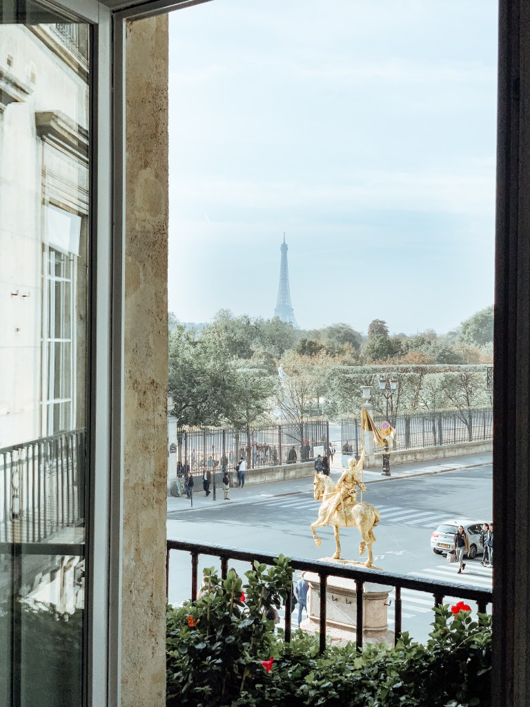How to Spend 24 Hours in Paris Travel Guide Room Service and Rose Lacy Transeau Hotel Regina Paris Eiffel Tower Views