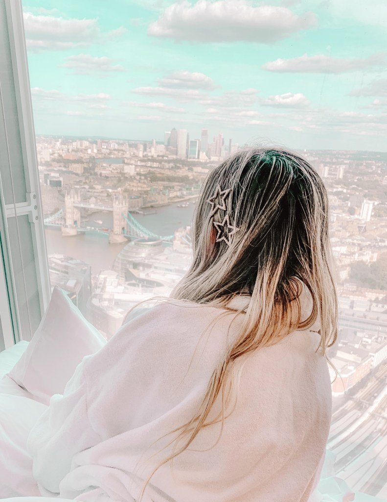 The Shard London Tower Bridge View Shangri La Hotel Lacy Transeau Room Service and Rose Morning Routine