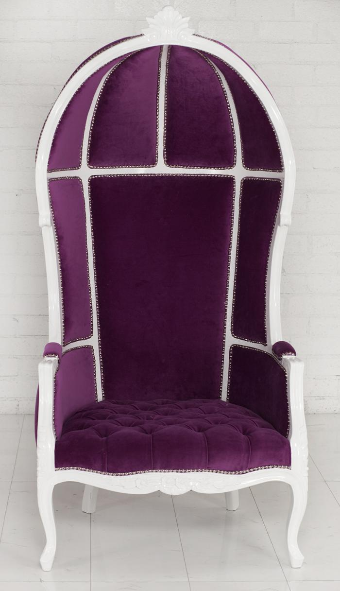 wwwroomservicestorecom  Fuchsia French Twist Balloon Chair