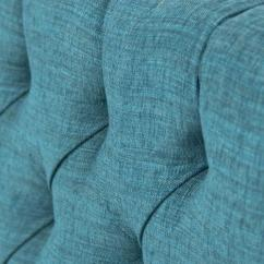 Tufted Turquoise Sofa Grey Linen Nailhead Www.roomservicestore.com - 007 In ...
