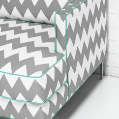 Aqua Sofa 60 Sleeper Www.roomservicestore.com - Down With Love In Chevron ...