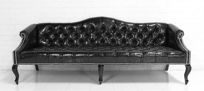 wwwroomservicestorecom  Mademoiselle Sofa in Faux Black
