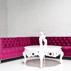 Sectional Sofa For Sale Ebay Leather Chesterfield Bed Www.roomservicestore.com - Hot Pink Hollywood