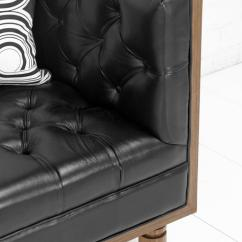 Tufted Sofas On Sale Wicker Garden Uk Www.roomservicestore.com - Koenig Sofa In Genuine Black ...
