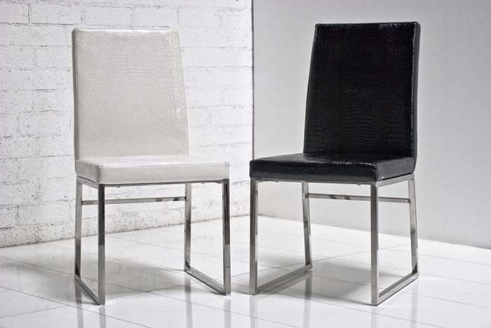 Wwwroomservicestorecom Black And White Croc Dining Chairs