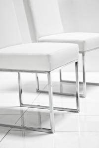 www.roomservicestore.com - 007 Dining Chair in White Leather