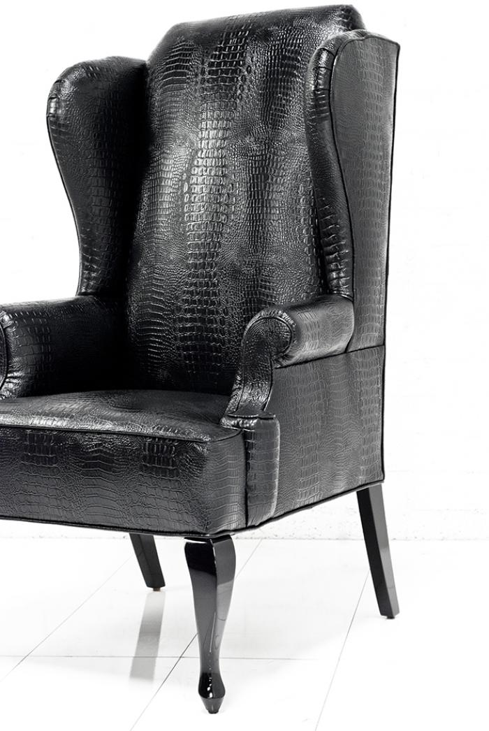 wwwroomservicestorecom  Brixton Wing Chair in Black