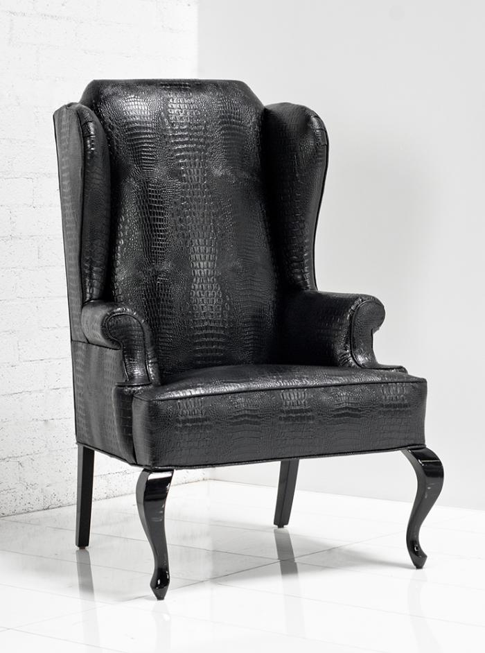 wwwroomservicestorecom  Brixton Wing Chair in Black