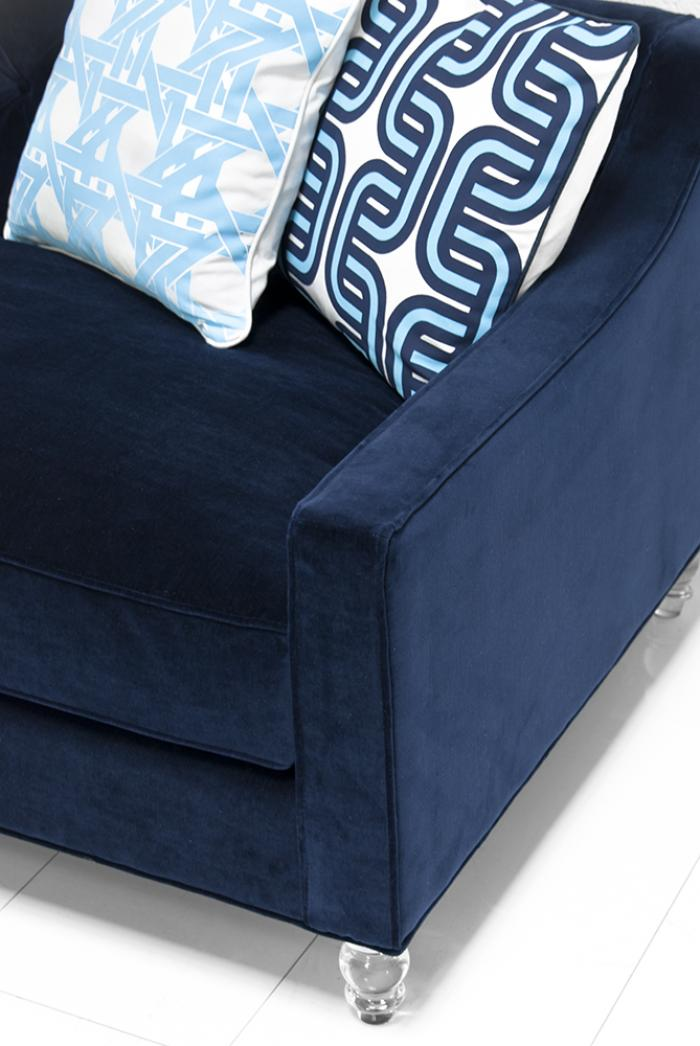 navy blue velvet sofa upholstery cleaner for sofas www.roomservicestore.com - audrey in cannes lapis