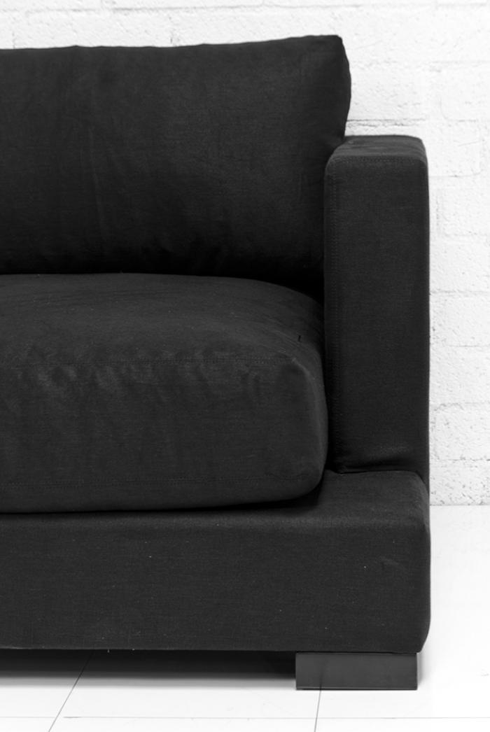 Wwwroomservicestorecom Oliver Sofa In Black Textured Linen