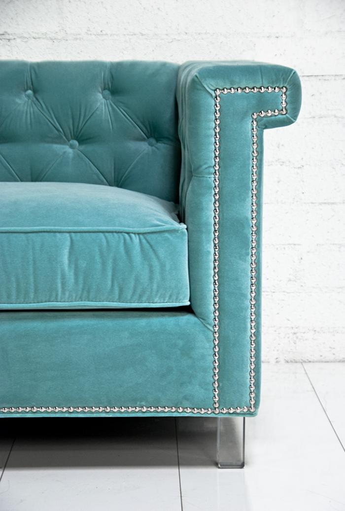 Wwwroomservicestorecom Sinatra Sofa In Aqua Velvet