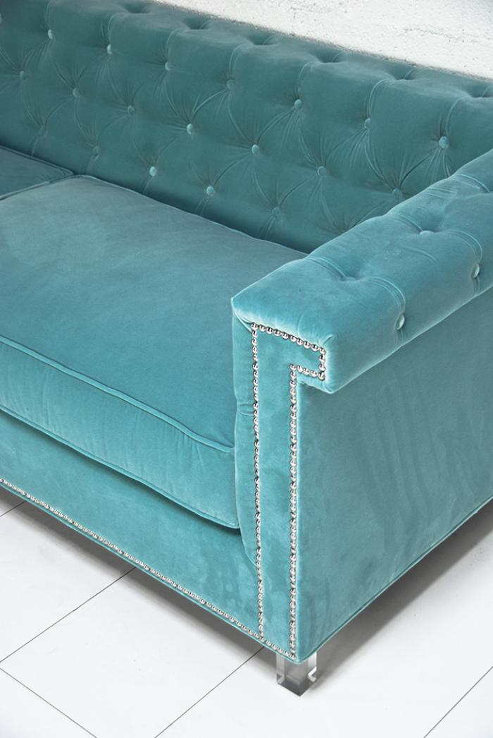 tufted sofas on sale modular sofa perth gumtree www.roomservicestore.com - sinatra in aqua velvet