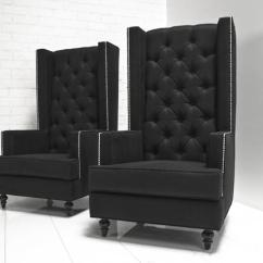 Modern Wing Chair Tullsta Cover Www.roomservicestore.com - Tall Boy In Black Tweed