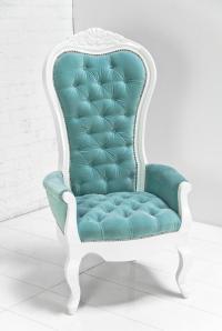 www.roomservicestore.com - Riviera Wing Chair in Aqua Velvet