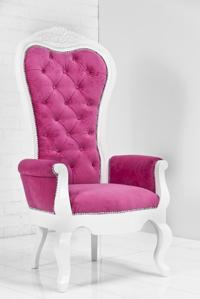 wwwroomservicestorecom  Riviera Wing Chair in Pink Velvet