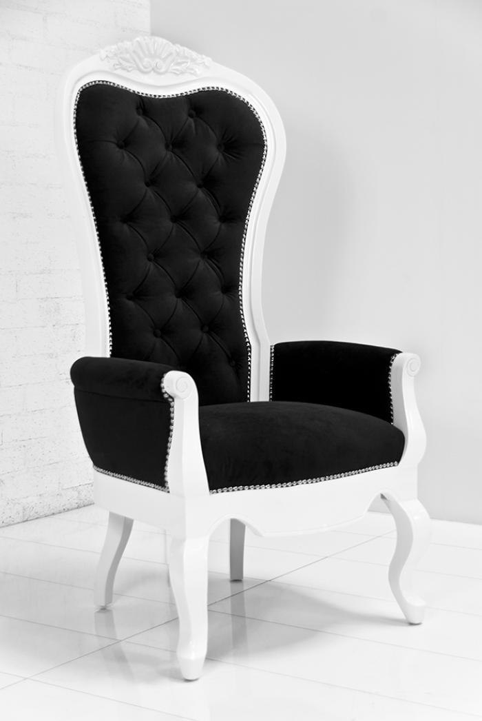 wwwroomservicestorecom  Riviera Wing Chair in Black Velvet