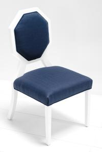 www.roomservicestore.com - Octagon Dining Chair in Navy Linen