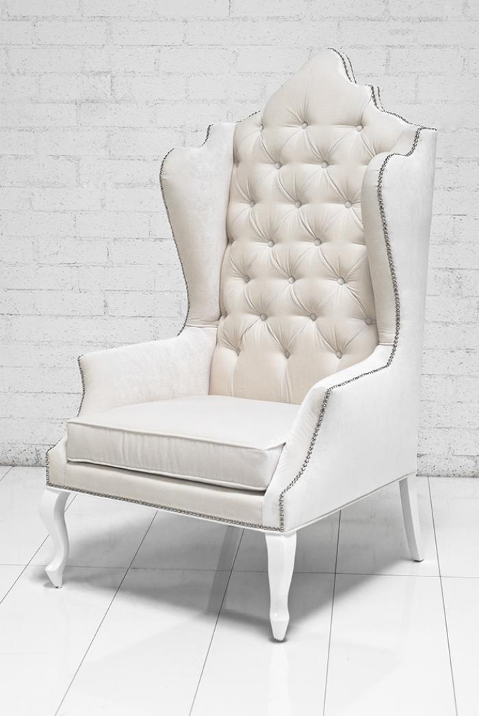 wwwroomservicestorecom  Casablanca Wing Chair in Off