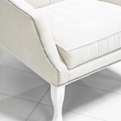 Modern Wing Chair Rent Tables And Chairs Nyc Www.roomservicestore.com - Casablanca In Off White Velvet