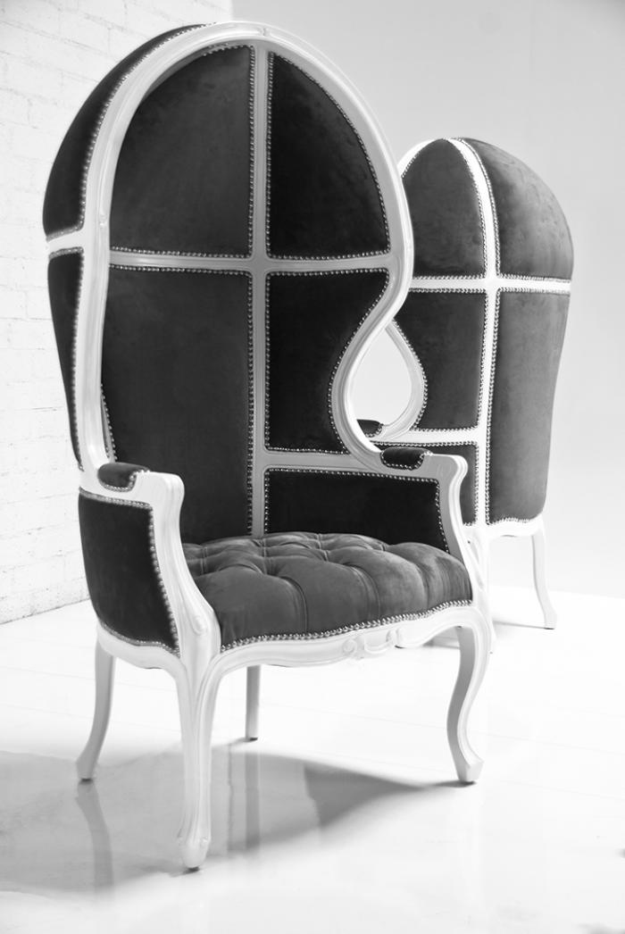 wwwroomservicestorecom  Balloon Chair in Charcoal Velvet