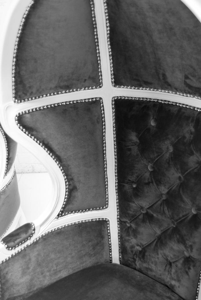 chair leg design folding papasan cover www.roomservicestore.com - balloon in charcoal velvet