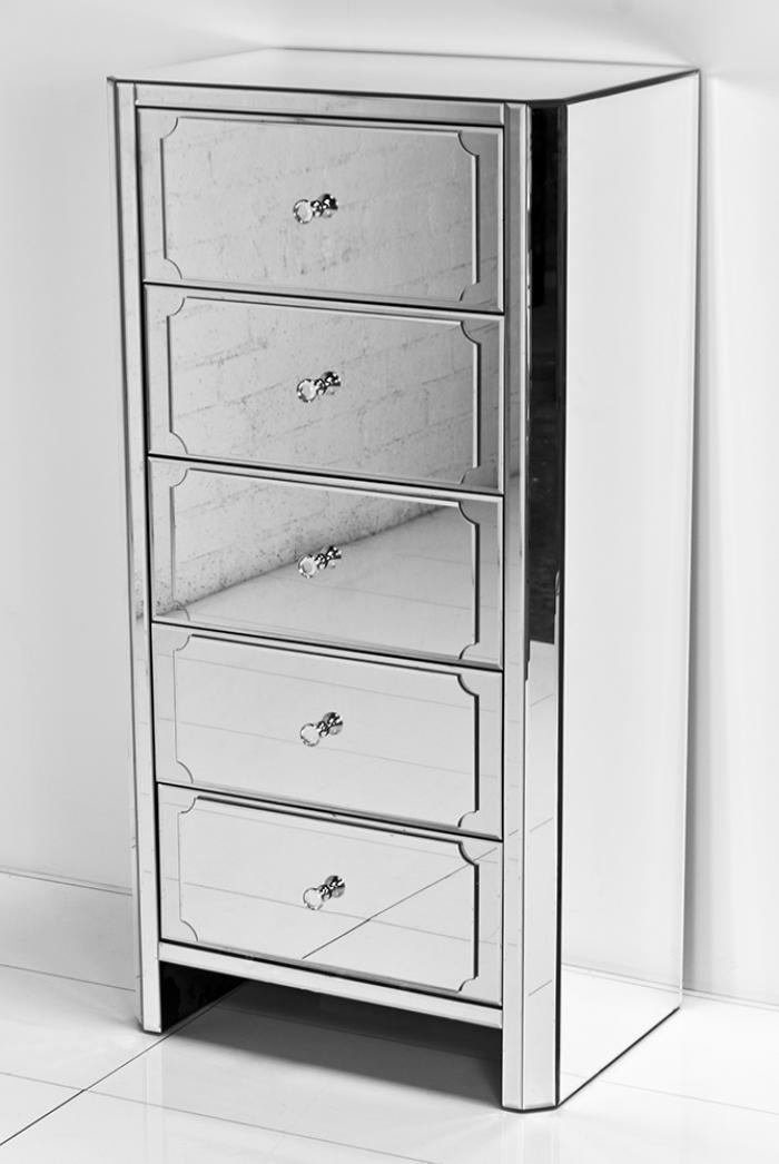 wwwroomservicestorecom  Regency All Mirror 5 Drawer Tall Dresser