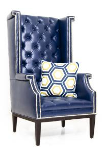 www.roomservicestore.com - Sinatra Wing Chair in Navy Faux ...