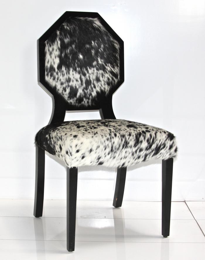 wwwroomservicestorecom  Cowhide Octagon Dining Chair