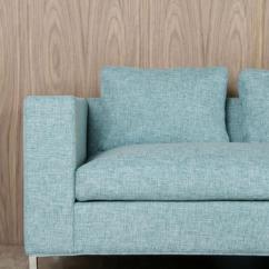 Aqua Sofa Costco Black Leather Set Www Roomservicestore Com Monte Carlo In Textured Fabric Chrome Legs