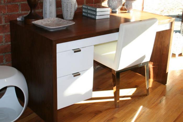 wwwroomservicestorecom  Walnut Desk with 2 Drawers in