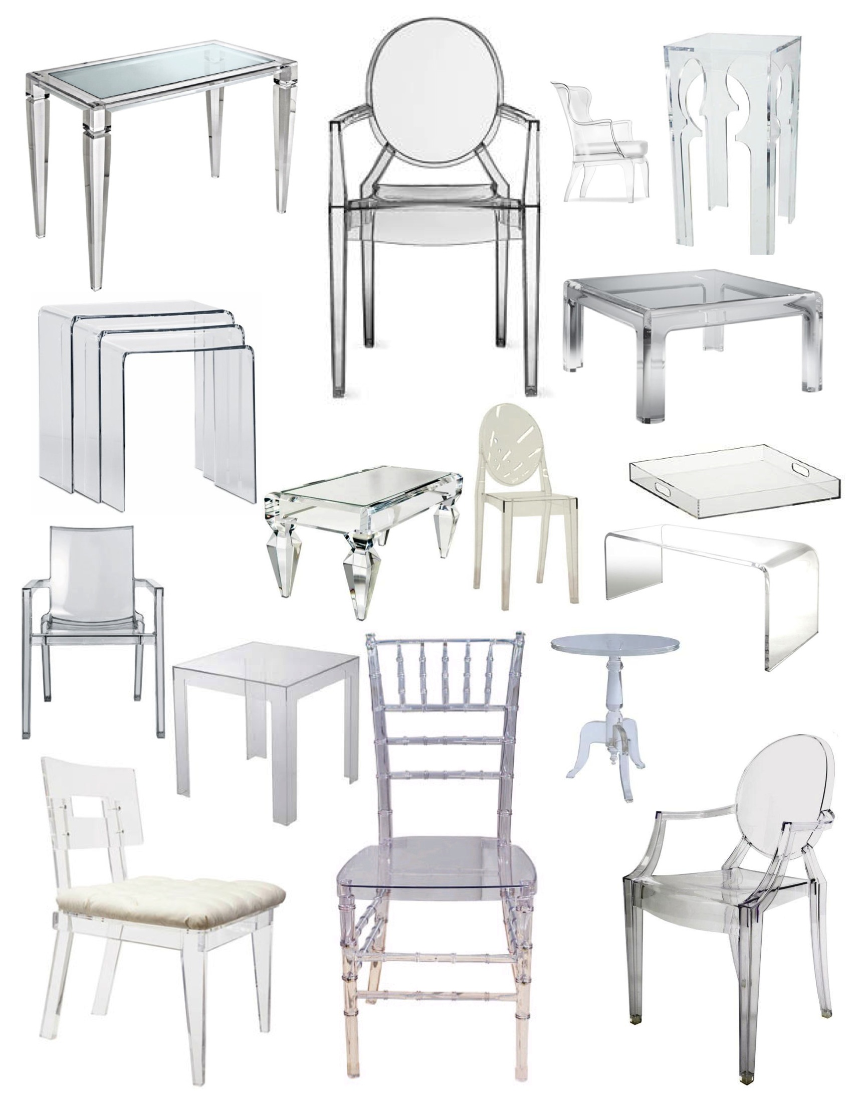 acrylic dining chair costco recliner chairs thinking clearly using mirror and lucite in decor modshop