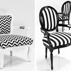Black White Striped Chair Galvanized Metal Color Crush And Aqua Modshop Style Blog