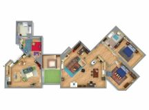 Tour The Big Bang Theory Apartments In Live 3D ...