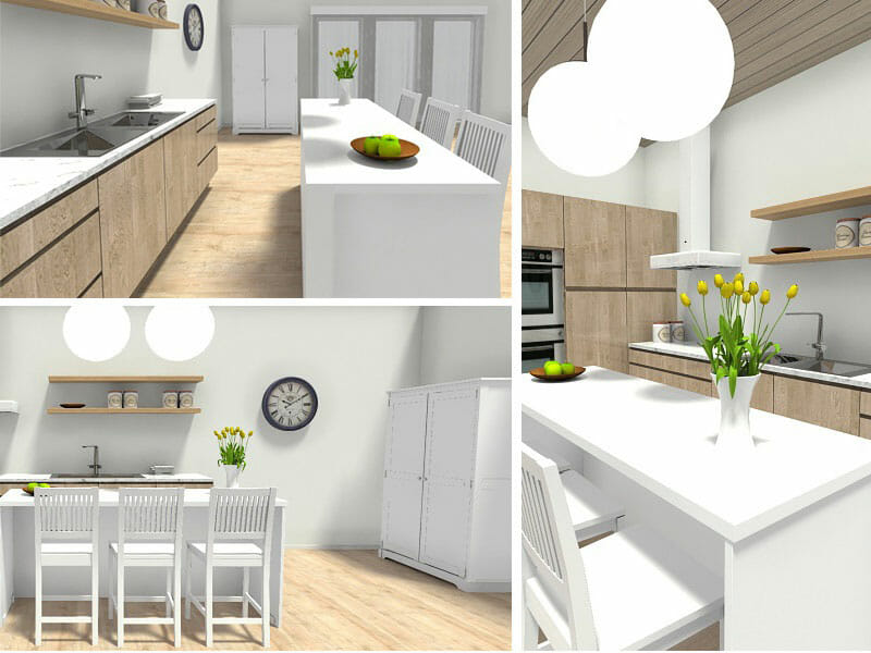 designing kitchen cabinets brass sink plan your with roomsketcher blog different views of a design created home designer