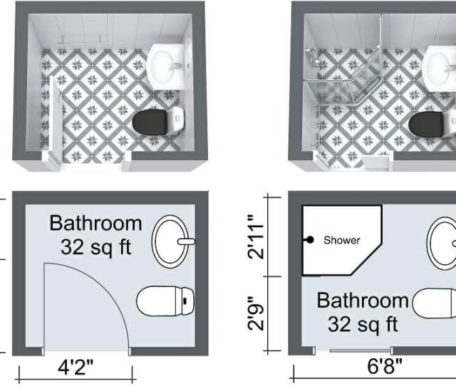 Small Bathroom Floor Plans With Pocket Door