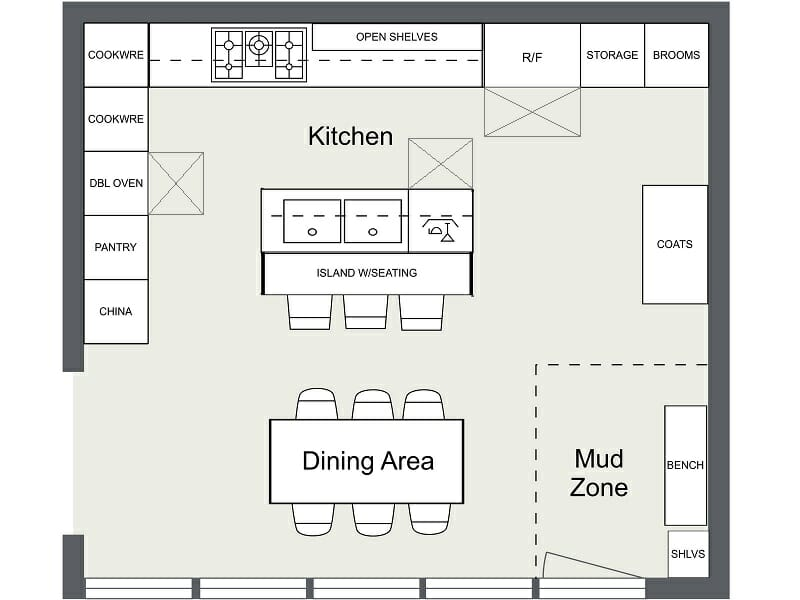 Roomsketcher Blog 7 Kitchen Layout Ideas That Work