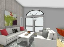 RoomSketcher Room Planner - Living Room Design with Wallpaper Accent Wall