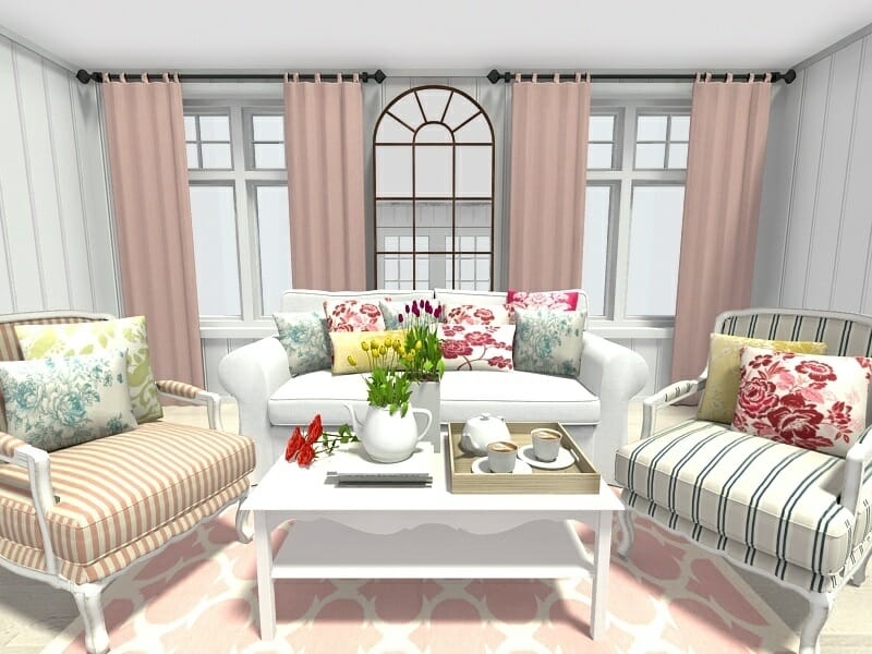 interior home decorating ideas living room best color for wallpaper 10 spring to inspire your roomsketcher blog with floral and trellis pattern decor