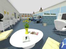 Open Plan Office Design Idea - RoomSketcher 3D Photo