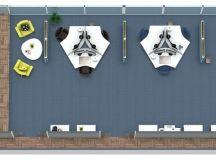 Office Design Layout Idea - RoomSketcher 3D Floor Plan