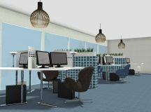 Office Design - Workstation Layout Idea