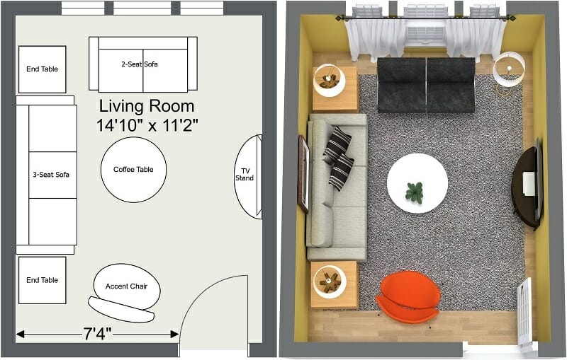 how to design a small living room layout decorating ideas for rooms 8 expert tips layouts roomsketcher blog 2d and 3d floor plans