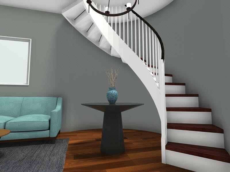 Roomsketcher Blog Visualize Your Staircase Design Online   Design For Stairs At Home   Iron   Interior Design   Stairway   Wood   Living Room
